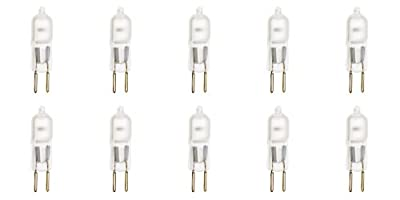 10 Pack Frosted Lense Dimmable T4 Q50/GY6.35/FR/120V GY6.35 JCD 50 Watt 50W 120 Volt Halogen Light Bulb Electric Wax Melter Plug In Warmer Aroma Tart Under Counter Lighting Kitchen Bathroom Mirror Ceiling Fixture gy6.35 FR 50W