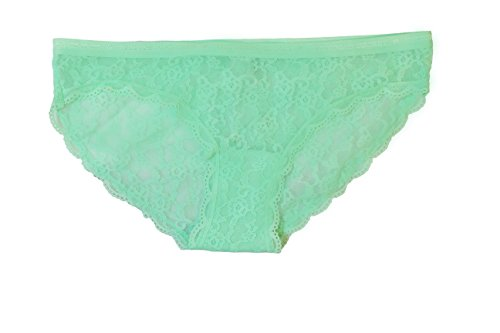 Victoria Secret Cheekini Mint Green Lace Embroidery Bikini (X-Small)