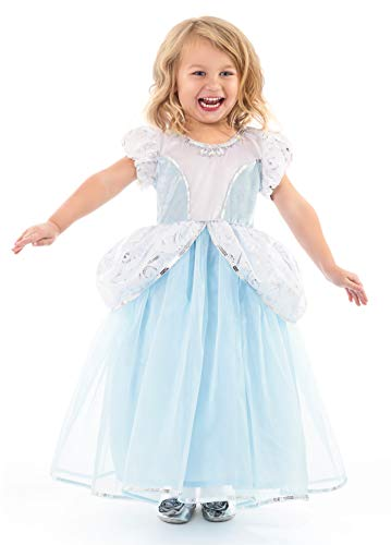 Little Adventures Deluxe Cinderella Princess Dress up Costume for Girls Medium (Age 3-5) -