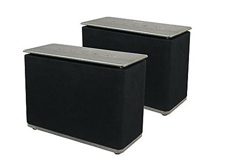 Metronic 477086 - Duo Enceinte Multiroom sans Fil Home Play – WiFi et Bluetooth – Noir 477084