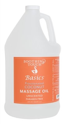 s Fractionated Coconut Massage Oil, Unscented, 128 Ounce ()