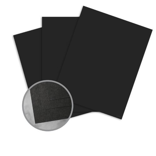 CLASSIC Linen Epic Black Card Stock - 8 1/2 x 11 in 80 lb Cover Linen 30% Recycled 250 per Package