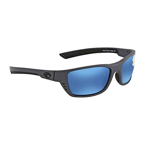 Costa Del Mar Whitetip Sunglasses WTP 98 OBMP Matte Gray/Blue Mirror 580Plastic