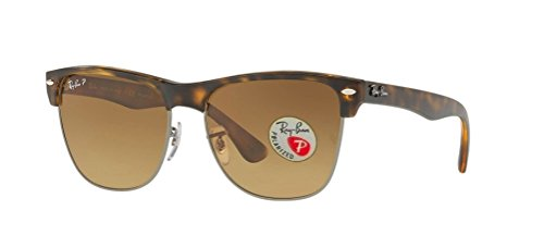 Ray Ban Unisex Clubmaster Oversized RB4175 Sunglasses (57 mm, Matte Havana Frame Polarized Brown - Clubmaster Rayban Polarized