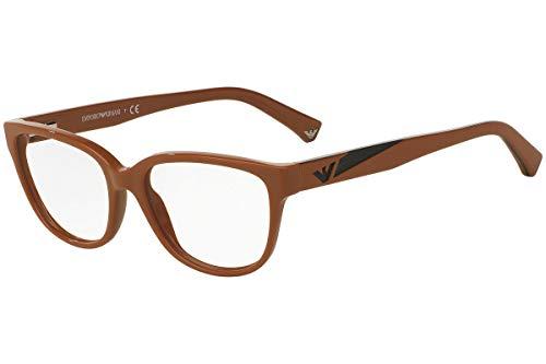Emporio Armani EA3081 Eyeglasses 52-16-140 Shiny Brown 5511 EA 3081