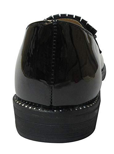 Black silver df Sky Mocassini Donna walker studs aq1aSIzx