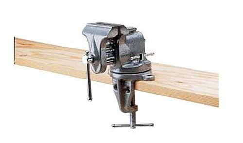 Bench Vise Light - Columbian 33153 153 3-Inch Jaw Width by 6-Inch Opening Swivel Base Clamp-On Bench Vise