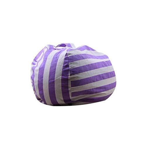 MOPOLIS Animals Storage Storage Bag Bean Bag Kids Soft Pouch Fabric Chair | Color - LY87 purple stripe