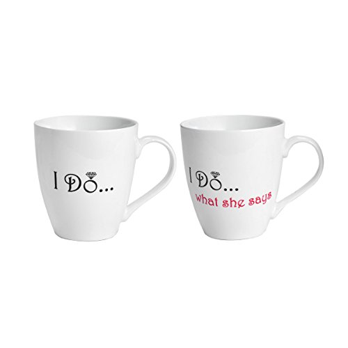 2' Gift (Pfaltzgraff Everyday Mug, I Do and I Do What She Say's, 18-Ounce, Set Of 2)