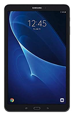 2019 Samsung Galaxy Tab A 10.1'' Touchscreen Tablet, 2GB RAM, 16GB ROM, Wi-Fi, Bluetooth, 3.5mm Stereo Audio, Micro USB, Android 6.0 Marshmallow OS, Black, Choose Extra 32GB MicroSD Card