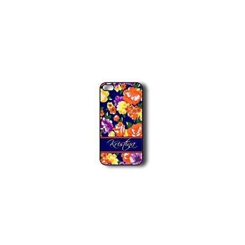 Krezy Case Monogram iPhone 5s Case, Colorful flowers Pattern Monogram iPhone 5s Case, Monogram iPhone 5s Case,...
