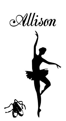 - HUANYI Ballerina Allison Name Letters Childrens Room Vinyl Wall Art Sticker Decal