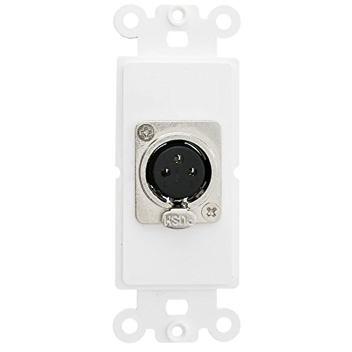 Decora Type Insert - CableWholesale Decora Wall Plate Insert, White, XLR Female to Solder Type