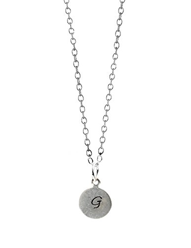 (Michelle Smith Collection Personalized Initial Sterling Silver Necklace 16