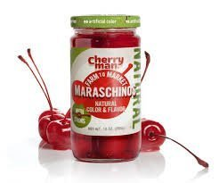 CherryMan Farm to Market Natural Maraschinos Cherries with Stems 10oz Jar (Pack of 3) by CherryMan