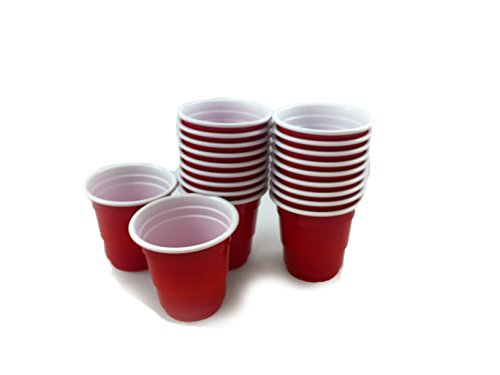 20-Piece Mini Party Shot Glasses, 1.75-Ounce, Red