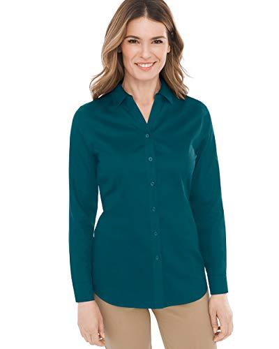 (Chico's Women's No-Iron Sateen Caroline Shirt Size 20/22 XXL (4) Green)