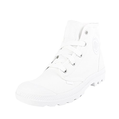 Palladium Pampa Hi, Zapatillas Altas para Mujer, Blanco weiss