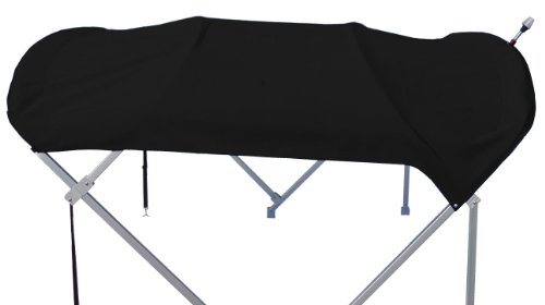 New Pontoon Boat Bimini Top Only / Top and Storage Boot 8' x 10' (Black) Black 8' Zip Boot