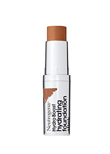 Neutrogena Hydro Boost Hydrating Foundation Stick with Hyaluronic Acid, Oil-Free & Non-Comedogenic Moisturizing Makeup for Smooth Coverage & Radiant-Looking Skin, Chestnut, 0.29 oz (Best Full Coverage Non Comedogenic Foundation)