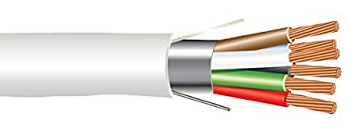 18 AWG 6/C Str CMP Plenum Rated Shielded Sound & Security Cable - 1000 Feet - EWCS Spec - Made in USA!