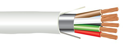 (22 AWG 6/C Str CMP Plenum Rated Shielded Sound & Security Cable - 1000 Feet - EWCS Spec - Made in USA!)