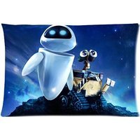 Wall-E Movie Custom Zippered Pillow Cases 20x30 (Twin sides)