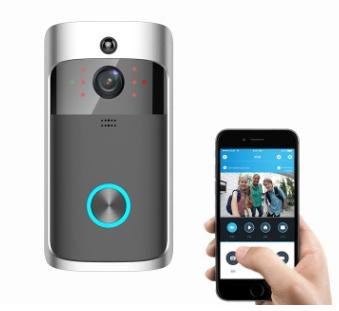 Timbre video, 720P HD Cámara de seguridad de la puerta, Tarjeta incorporada 8G,