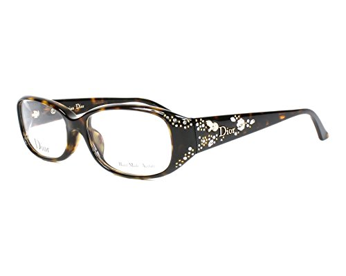 Optical frame Christian Dior Acetate Dark Havana - Silver (CD7064J (Christian Dior Optical Frames)