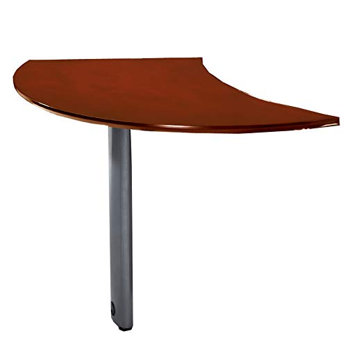 Mayline NEXTRCRY Napoli Curved Desk Right Extension for use with Desks. sold separately, Sierra Cherry ()