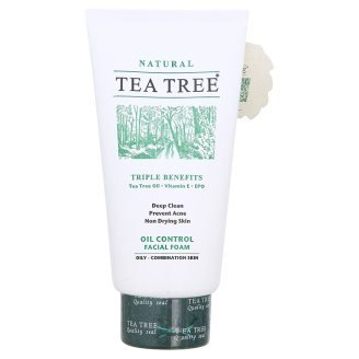 Tea Tree Oil Control Foam. For oily and combination skin 140 grams. (L)