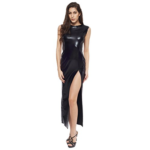 iEFiEL Womens Sexy Split Fancy Cocktail Gothic Party Maxi Dress (Sexy Gothic Outfit)