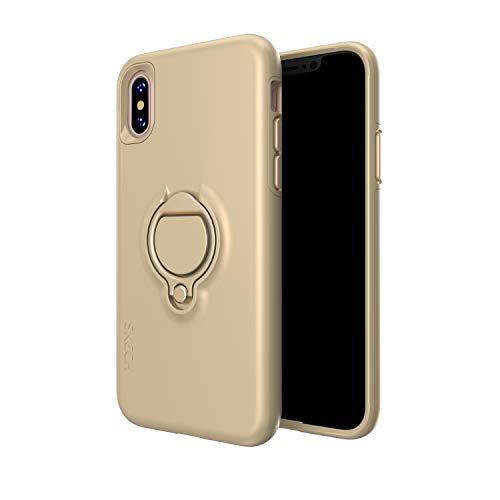 (SKECH Slim Shockproof Anti-Slip Vortex Hybrid Case for Apple iPhone Xs/X - Champagne)