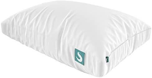 Sleepgram Pillow - PREMIUM Adjustable Loft - Soft Hypoallergenic Microfiber Pillowwashable removable cover - 18 x 26 - Standard/Queen size