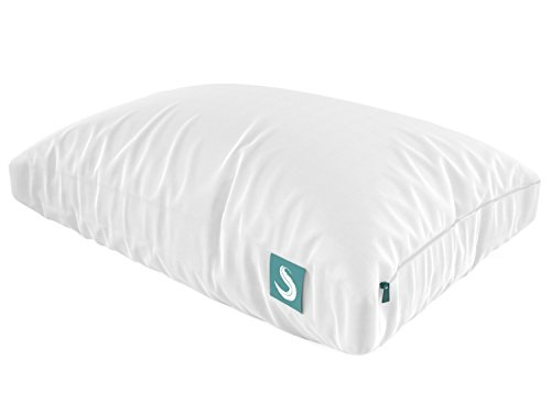 Sleepgram Pillow - PREMIUM Adjustable Loft - Soft Hypoallergenic Microfiber Pillow with washable removable cover - 18 x 26 - Standard/Queen ()