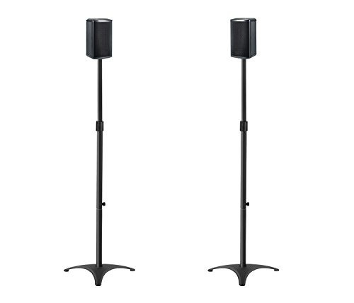 Mounting Height Speaker Stands Mounts, Pair Duty Extendable Tube, 11 Stand, Adjustment MD5401
