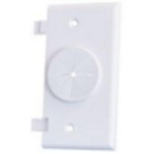 (Midlite 2GESP-GR10-LA Light Almond Power+Port� Wireport Double-Gang Splitplate With Grommet)