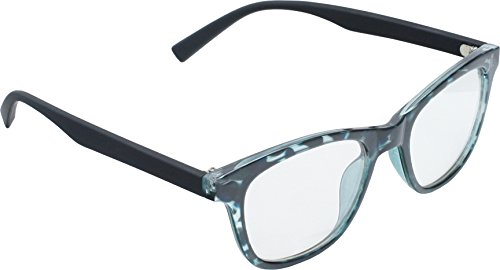 True Gear iShield Anti Reflective Computer Glasses Block Blue Light and Harmfull UV with Clear Lens for Kids and Teens - Retro - Black and Green Demi with 2 in - Teens Glasses For Reading