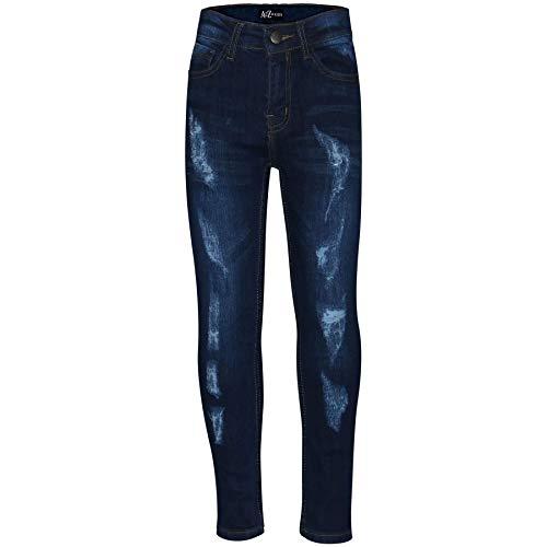 A2Z 4 Kids® Kinderen Jorgens Rekbaar Jeans Ontwerper Gescheurd Denim Mager Broek Mode Broek Leeftijd 3 4 5 6 7 8 9 10 11…