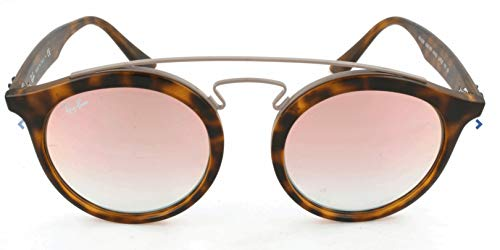 Ray-Ban Injected Unisex Sunglass, Matte Havana / Mirror Gradient Copper, 49 mm (Ray Ban Shopping)