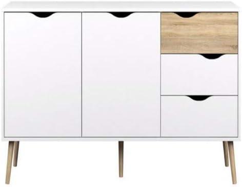 Esidra Bianco Bianco//Nero Delta 99 x 39 x 82 cm Credenza