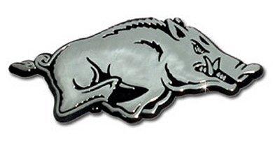 Arkansas Razorbacks Premier Chrome Metal Auto Emblem - Arkansas Razorbacks Gear