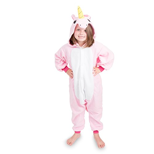 Pink Soft Costumes (Emolly Kids Animal Unicorn Onesie Pajamas Costume (8, Pink))