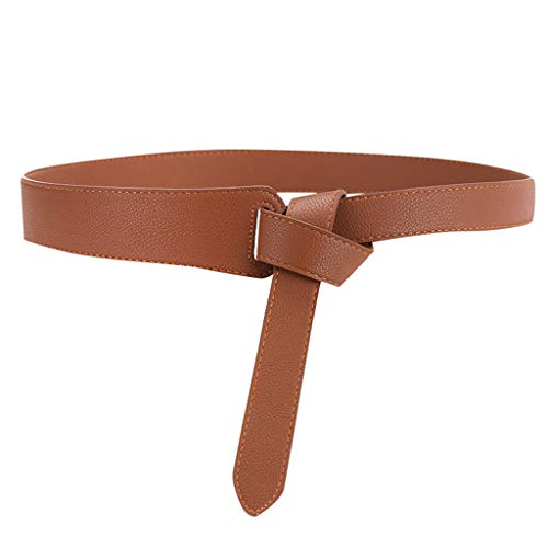 Toimothcn Women Stylish Dress Belt Adjustable Thin Waist Belt with No Buckle for Lady (C,One)