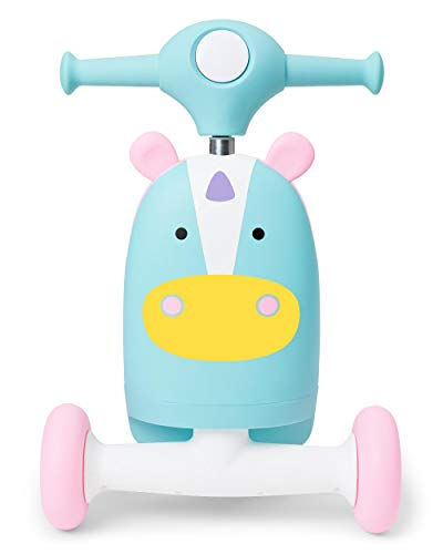312O pcOX%2BL - Skip Hop Kids 3-in-1 Ride On Scooter and Wagon Toy, Unicorn