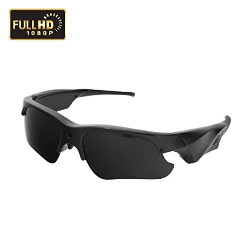 Sunglasses Camera, KAMRE Full HD 1080P Mini Video Camera with UV Protection Polarized Lens, A by KAMRE