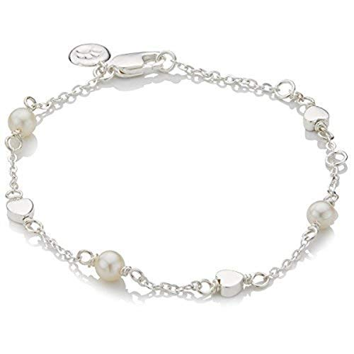 Molly B London | Girl's Holy Communion Freshwater Pearl Station & Silver Heart -