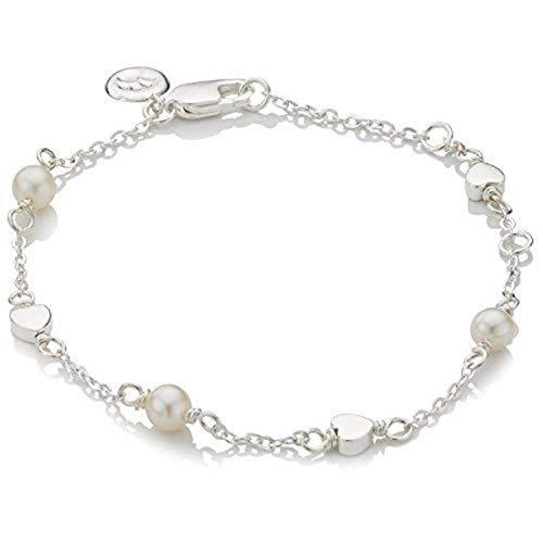 Molly B London | Girl's Holy Communion Freshwater Pearl Station & Silver Heart Bracelet
