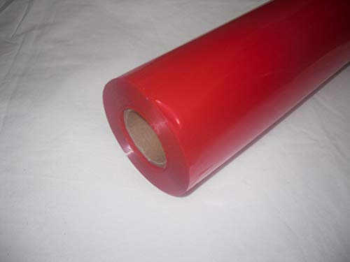 10m x 80cm Roll Tinted Red Cellophane Wrap. Florist Quality Bouquet / Gift / ... by Tinted Cellophane Wrap