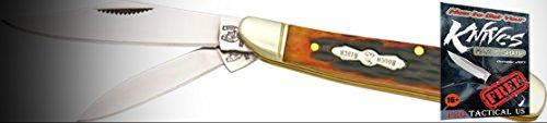 Rough Rider Elite Knife 011110 Folding Peanut Amber Jigged Bone Handle 2 7/8